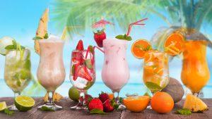 Drinks für die Hawaii Feier