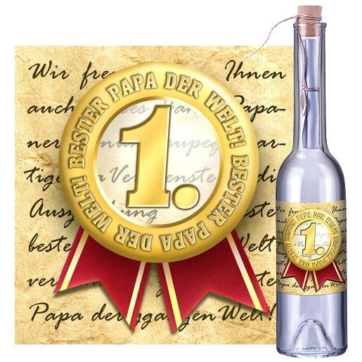Flaschenpost Bester Papa der Welt
