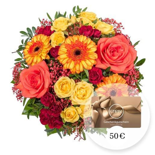 Blumenstrauß Sonnenschein und CHRIST Geschenkgutschein