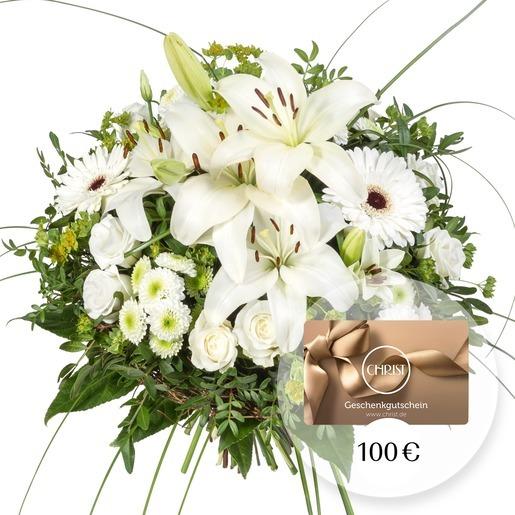 Blumenstrauß Allegra und CHRIST Geschenkgutschein