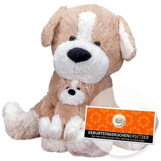 XXL-Kuschel-Hund und Schokolade